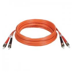 Tripp Lite - N302-003 - Tripp Lite 1M Duplex Multimode 62.5/125 Fiber Optic Patch Cable ST/ST 3' 3ft 1 Meter - ST Male - ST Male - 3ft