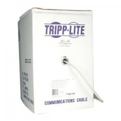 Tripp Lite - N222-01K-GY - Tripp Lite 1000FT PVC CMR CAT 6 SOLID UTP BULK CABLE Gray 1000' - 1000ft - Gray