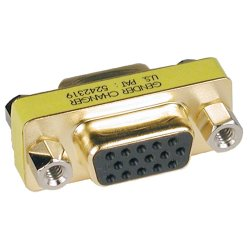 Tripp Lite - P160-000 - Tripp Lite Compact / Slimline VGA Video Coupler Gender Changer (F/F) - 1 x HD-15 Female - 1 x HD-15 Female