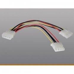 "Tripp Lite - P920-006 - Tripp Lite 6in Internal Power Y Splitter Dual Drive 4Pin M 2x4Pin SOK - (4Pin M to 2x 4Pin SOK), 6-in."""
