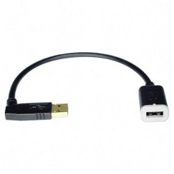 """Tripp Lite - U005-10I - Tripp Lite 10in USB Extension Cable A/A USB-A Male / Female 10"""" - USB - Extension Cable - 10"""" - 1 x Type A Male USB - 1 x Type A Female USB - Black"""""""