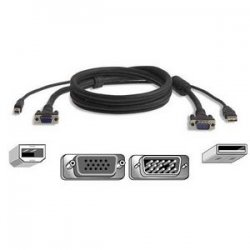 Belkin / Linksys - F3X1962B15 - Belkin Pro Series USB KVM Cable Kit - 15ft - Gray
