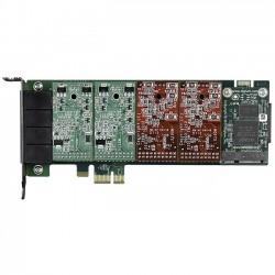 Digium - 1A4B02F - Digium A4B Voice Board - PCI Express - 4 x FXO - Plug-in Card