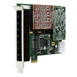 Digium - 1A8A06F - Digium A8A Voice Board - PCI - 8 x FXS - T-carrier/E-carrier - Plug-in Card