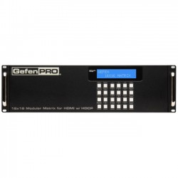 Gefen - GEF-HDFST-MOD-16416-HDELR - Gefen 16x16 Modular Matrix for HDMI With HDCP - 1920 x 1080 - Full HD - 16 x 16 - 1 x HDMI Out