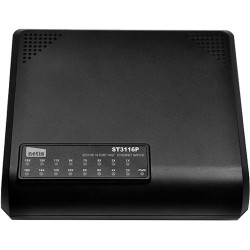 NETIS Systems - ST3116P - Netis 16 Port Fast Ethernet Switch - 2 Layer Supported - Desktop - 1 Year Limited Warranty
