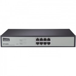 NETIS Systems - ST3208 - Netis 8 Port Fast Ethernet Web Management Switch - Manageable - 2 Layer Supported - Desktop, Rack-mountable