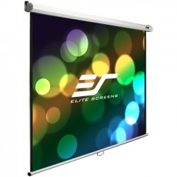 Elite Screens - M100S - Elite Screens M100S Manual Ceiling/Wall Mount Manual Pull Down Projection Screen (100 1:1 Aspect Ratio) (MaxWhite) - 71 x 71 - MaxWhite
