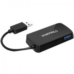 Aluratek - AUH2304F - Aluratek 4-Port USB 3.0 SuperSpeed Hub with Attached Cable - USB - External - 4 USB Port(s) - 4 USB 3.0 Port(s)