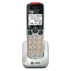 AT&T - crl30102 - AT&T CRL30102 Accessory Handset, Silver/Black - 7 Hour Battery Talk Time - Desktop, Wall Mountable - Silver, Black