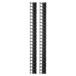 APC / Schneider Electric - AR7721 - APC by Schneider Electric Vertical Cable Manager for NetShelter SX 600mm Wide 42U (Qty 2) - Cable Manager - Black - 2 Pack - 42U Rack Height