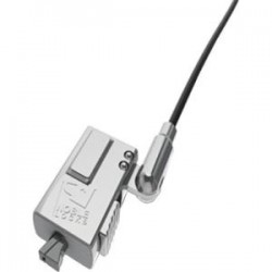Compulocks Brands - WDG08 - Compulocks Wedge Low Profile Cable Lock - Black - 6 ft - For Tablet, Notebook