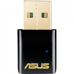 Asus - USB-AC51 - Asus USB-AC51 IEEE 802.11ac - Wi-Fi Adapter for Desktop Computer/Notebook - USB - 433 Mbit/s - 2.40 GHz ISM - 5 GHz UNII - External