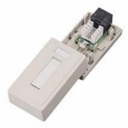 C2G (Cables To Go) - 03835 - C2G 1-Port Cat5E Surface Mount Box - White - White