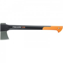 Fiskars - 78576935 - Fiskars X15 Chopping Axe (23.5) - 23.5 Length - Black, Orange, Silver - Forged Steel - Heavy Duty, Shock Absorbing Handle, Non-slip Grip, Non-stick Coating, Lightweight Handle