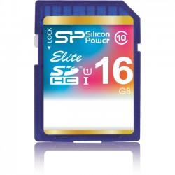 Silicon Power - SP016GBSDHAU1V10 - Silicon Power Elite 16 GB SDHC - Class 10/UHS-I - 40 MB/s Read - 15 MB/s Write - 1 Card