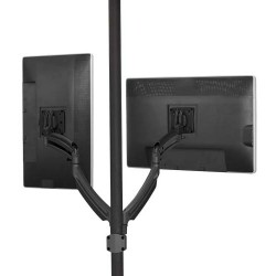 Chief - K1P220B - Chief KONTOUR K1P220B Pole Mount for Flat Panel Display - 10 to 30 Screen Support - 50 lb Load Capacity - Aluminum - Black