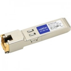 AddOn - 100-TW-EL-S-AO - AddOn McData 100-TW-EL-S Compatible TAA Compliant 10/100/1000Base-TX SFP Transceiver (Copper, 100m, RJ-45) - 100% compatible and guaranteed to work