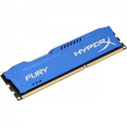 Kingston - HX313C9F/4 - Kingston HyperX Fury Memory Blue - 4GB Module - DDR3 1333MHz - 4 GB (1 x 4 GB) - DDR3 SDRAM - 1333 MHz DDR3-1333/PC3-10667 - 1.50 V - Non-ECC - Unbuffered - 240-pin - DIMM