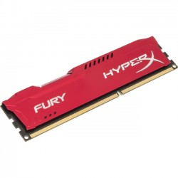 Kingston - HX313C9FR/8 - Kingston HyperX Fury Memory Red - 8GB Module - DDR3 1333MHz - 8 GB - DDR3 SDRAM - 1333 MHz - 1.50 V - Non-ECC - Unbuffered - DIMM