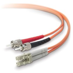 Belkin / Linksys - F2F402L0-05M - Belkin - Network cable - LC/PC multi-mode (M) to ST/PC multi-mode (M) - 16.4 ft - fiber optic - 50 / 125 micron - B2B
