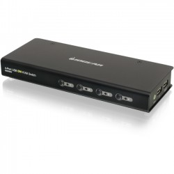 IOGear - GCS1004 - IOGEAR 4-Port USB DVI KVM Switch - 4 Computer(s) - 1 Local User(s) - 1920 x 1200 - 2 x USB - 1 x DVI