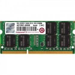 Transcend - TS1GSK72V6H - Transcend 8GB DDR3 SDRAM Memory Module - 8 GB (1 x 8 GB) - DDR3 SDRAM - 1600 MHz DDR3-1600/PC3-12800 - 1.50 V - ECC - Unbuffered - 204-pin - SoDIMM
