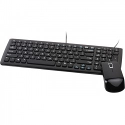 Viewsonic - VMP10B_KM1US05 - Viewsonic USB Keyboard & Mouse Set - USB Cable Keyboard - English - Black - USB Cable Mouse - 1000 dpi - Scroll Wheel - Black - Symmetrical - Compatible with PC