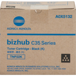 Konica-Minolta - A0X5132 - Konica Minolta TNP22K Original Toner Cartridge - Laser - 5200 Pages - Black - 1 Each