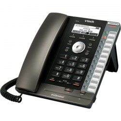 VTech - VSP725 - ErisTerminal VSP 725 Entry-Level Deskset SIP Phone (PoE) - Includes Power Supply