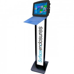 Compulocks Brands - 140B500GEB - New Surface Space BrandMe Stand, Black - Up to 10 Screen Support - Floor Stand - Aluminum - Black