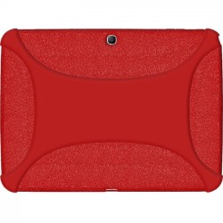 Amzer - 96105 - Amzer Silicone Skin Jelly Case - Red - Tablet - Red Textured - Silicone