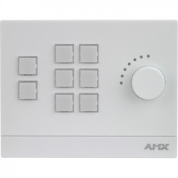 AMX - FG2102-08-W - AMX Massio 8-Button ControlPad with Knob (US, UK, EU)