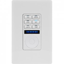 AMX - FG5793-01-WH - AMX Metreau 6-Button Ethernet Keypad with Navigation - 6 x Controllable Devices