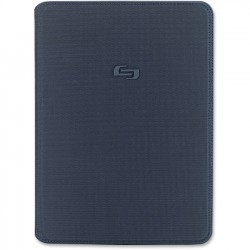 Solo Cases - CLS240-5 - Solo Classic Carrying Case (Book Fold) for iPad Air - Navy - Polyester - 9.7 Height x 7.1 Width x 0.6 Depth