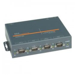 Lantronix - ED41000P2-01 - Lantronix EDS4100 4-Port Device Server with PoE - 4 x DB-9 , 1 x RJ-45
