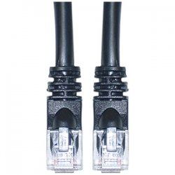SIIG - CB-5E0A11-S1 - SIIG CB-5E0A11-S1 Cat.5e UTP Cable - Category 5e - 100 ft - 1 x RJ-45 Male Network - 1 x RJ-45 Male Network - Black