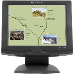 """Planar Systems - PT1510MX - Planar PT1510MX Touchscreen LCD Monitor - 15"""" - 5-wire Resistive - 1024 x 768 - Black"""
