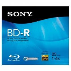 Sony - BNR25R3H/2 - Sony BNR25R3H/2 Blu-ray Recordable Media - BD-R - 6x - 25 GB - 1 Pack Jewel Case - 120mm