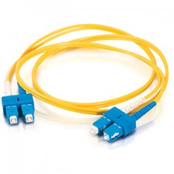 C2G (Cables To Go) - 20808 - C2G 1m SC-SC 9/125 Duplex Single Mode OS2 Fiber Cable - Yellow - 3ft - Fiber Optic for Network Device - SC Male - SC Male - 9/125 - Duplex Singlemode - OS1 - 1m - Yellow