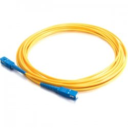 C2G (Cables To Go) - 37131 - 5m SC-SC 9/125 OS1 Simplex Singlemode PVC Fiber Optic Cable - Yellow - Fiber Optic for Network Device - SC Male - SC Male - 9/125 - Simplex Singlemode - OS1 - 5m - Yellow