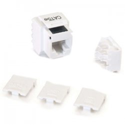 C2G (Cables To Go) - 03791 - C2G Cat5E RJ45 UTP Keystone Jack - White - RJ-45, 110-punchdown