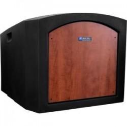 AmpliVox - SN3240-WT - AmpliVox SN3240 - Pinnacle Tabletop Lectern - 22 Height x 27 Width x 26 Depth - Walnut - Plastic
