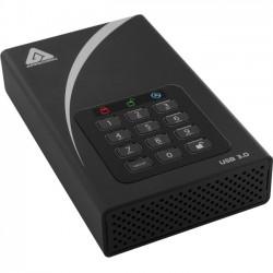 Apricorn - ADT-3PL256-8000 - Apricorn Aegis Padlock DT ADT-3PL256-8000 8 TB 3.5 External Hard Drive - Desktop - USB 3.0 - 8 MB Buffer
