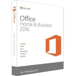 Microsoft - T5D-02776 - Microsoft Office 2016 Home & Business - 1 PC - Medialess - Office Suite Box - PC - English