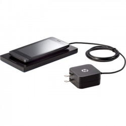 Hewlett Packard (HP) - T6C42AA#ABA - HP Tri-Mode Wireless Charging Pad - 12 V DC Input - Input connectors: USB - AC Plug