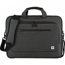 V7 - CTPX1-1N - V7 CTPX1-1N Carrying Case (Briefcase) for 15.6 Notebook - Gray - Water Proof Zipper - Nylon - Shoulder Strap, Handle