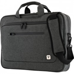 V7 - CTPX6-1N - V7 CTPX6-1N Carrying Case (Briefcase) for 14.1 Notebook - Gray - Water Proof Zipper - Nylon - Handle, Shoulder Strap