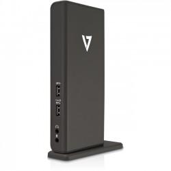 V7 - UDDS-1N - V7 Universal USB 3.0 Docking Station - USB - 6 x USB Ports - 4 x USB 2.0 - 2 x USB 3.0 - Network (RJ-45) - HDMI - DVI - VGA - Microphone - Wired