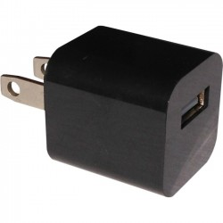 4xem - 4XUSB1ACHARGERB - 4XEM Black USB Wall Charger - 5 W Output Power - 5 V DC Output Voltage - 1 A Output Current